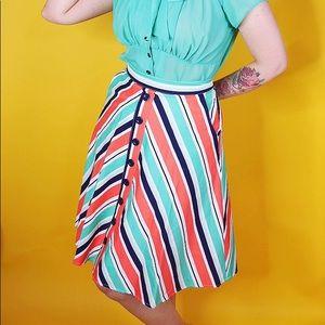 Modcloth Skirts - Chevron Print A Line Skirt